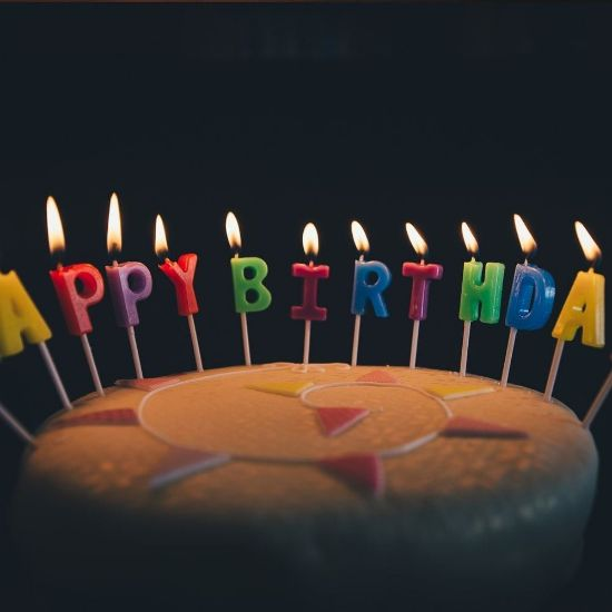 Birthday Latters Candles