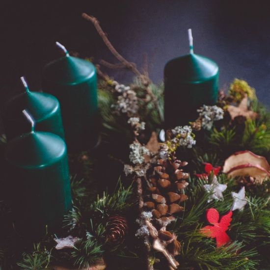 Green Christmas Candles