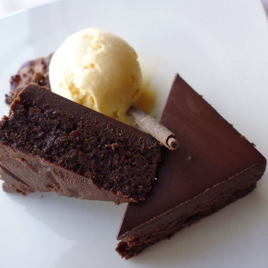 Brownie with Ice cream