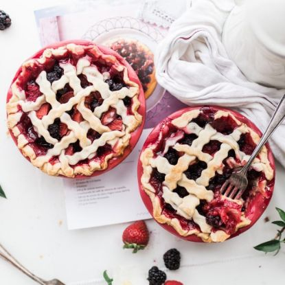 Berry and Strawberry Pie
