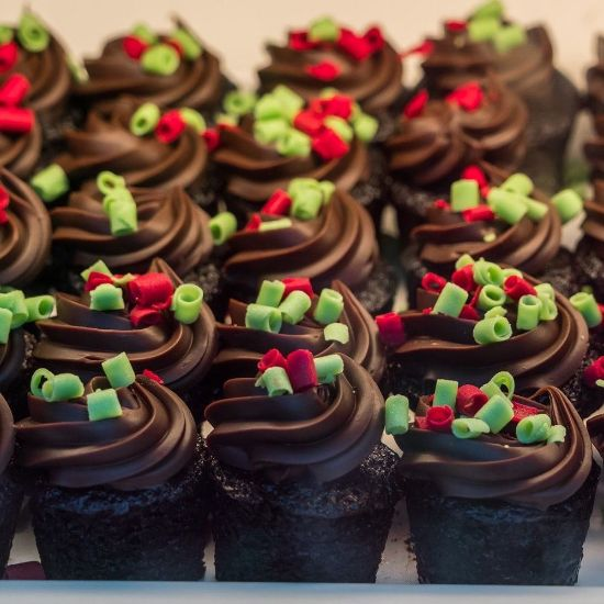 Dark Chocolate Mini Cupcake
